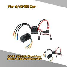 3650 3930KV 4P Sensorless Brushless Motor & 45A ESC+ BEC for 1/10 RC Car R1ZF