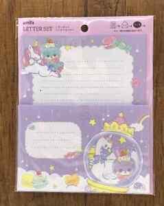 Letter Sheet Envelope Set Retro Fancy  Animals Stationery Japan Purple