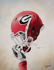"Georgia Football Collage Series "" UGA Power"" 14x18  Art Print"