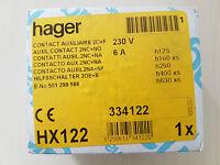 Hager HX122 contatto ausiliare 2 in scambio H125/H630XS