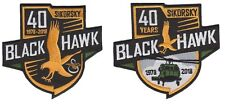 Sikorsky UH-60 Blackhawk Helicopter 40 Year Army Military Aviation 2 Patch Combo