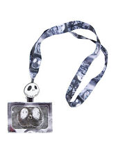 Disney The Nightmare Before Christmas Jack Skull Face Lanyard ID Pin Holder NEW