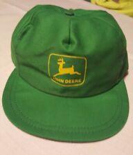 Vintage John Deere Louisville Mfg Snapback Cap Trucker Hat Green USA Farm vtg