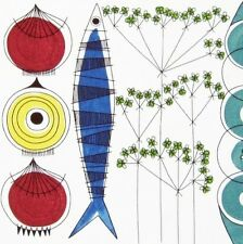 1m scandinavian fabric 50s 60s picnic retro Heals Marimekko era vtg DIY cushion