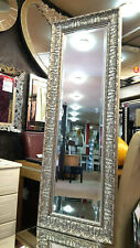 John Lewis Constantina Ornate Wall Mirror Gilt French Champagne Silver 133x46cm