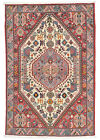 Fine Tribal Oriental Qashqai Rug, 3'x5', Ivory , Hand-Knotted Wool Pile