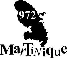 Sticker 972 Martinique 57x49cm