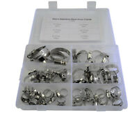 50pcs 8 - 38mm Stainless Steel Adjustable Range Worm Gear Hose Clamps Kit 6 Size