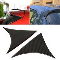 For 2014-2018 Mazda3 Axela Rear Window Spoiler Carbon Fiber Wing Cover Trim 2Pcs