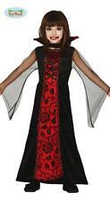 Costume Vampiretta Travestimento Vampira di Halloween Taglia Bambina 5/6 Anni