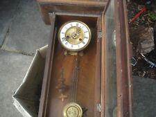 More details for antique wall clock for restoration cross arrows maker?