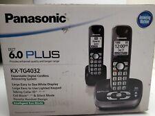 Panasonic Kx-Tg4032 Dect 6.0 2 Handset Cordless Phone