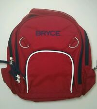Pottery Barn Kids Small Fairfax Red and Navy Blue Backpack with name BRYCE New!