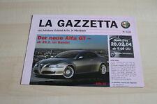 106786) Alfa Romeo GT - 147 Shape - 156 Black Edition - Prospekt 01/2004