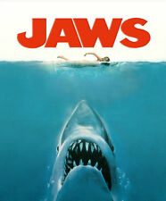 JAWS MOVIE FILM SHARK Photo Poster Print A4 260gsm