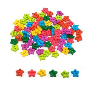100 pcs Tiny Star buttons mix colors size 6mm for sewing crafts accessories