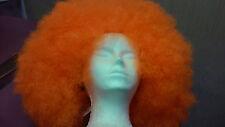 Adults Large Orange Afro Costume Wig