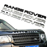 Car Styling Alloy Bonnet Sticker Engine Hood Badge Decal Emblem For RANGE ROVER