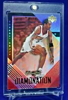 ALLEN IVERSON BLACK DIAMOND DIAMONATION RAINBOW REFRACTOR  SP RARE