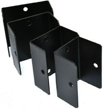 More details for pack of 10, black fence & trellis clips 32 38 44 50mm bracket panel fixing post