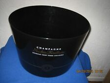 LARGE CHAMPAGNE NICOLAS FEUILLATTE Ice Cooler Bucket BLACK
