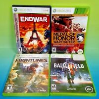 Battlefield 3, EndWar, Frontlines, Medal of Honor,  XBOX 360 4 Game Lot Bundle