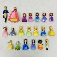 Disney Sofia the First Princess Lot Of 20 Mini Doll Figures King Queen Amber