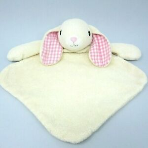 Tesco F&F bunny lamb sheep comforter blankie soft toy soother pink gingham ears