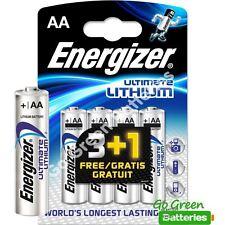 4 x Energizer AA ULTIMATE Lithium Batteries 1.5v LR6 L91 Digital Camera 2036 exp