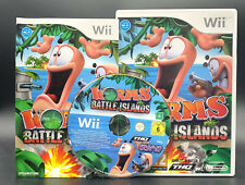 "NINTENDO WII SPIEL"" WORMS BATTLE ISLAND "" KOMPLETT"