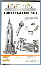Iconx EMPIRE STATE BUILDING 3D Metal Earth Puzzle Laser Cut Steel Model Kit