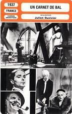 FICHE CINEMA : UN CARNET DE BAL - Baur,Bell,Jouvet,Duvivier 1937 Dance of Life