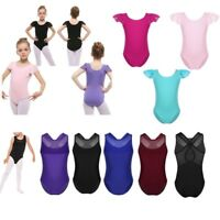 Kids Girls Ballet Gymnastics Leotard Jumpsuit Bodysuit Dancewear Costume Dress