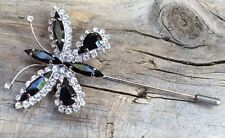 NEW BUTTERFLY BROOCH/NEEDLE/TIE TACK SILVER PLATED
