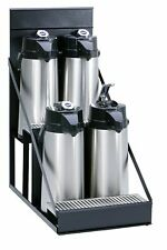 Wilbur Curtis 4 Position Airpot Rack, Compact Design w/Integral Drip Tray