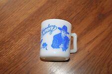 Cowboy Mug.1950's Hazel Atlas BLUE Hopalong Cassidy Coffee Cup/Mug.Glass
