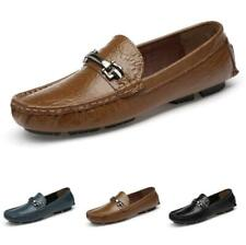 Mens Low Top Leisure Leather Shoes Pumps Loafers Driving Moccasins Soft Casual