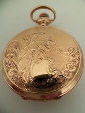 Reloj de bolsillo Elgin/colgante (14k Solid Gold Hunter caso) 1911
