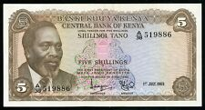 KENYA 5 SHILLINGS 1969 P-6a aUNC (N-028)