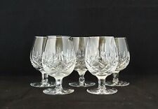 Waterford Crystal LISMORE Small Brandy Snifters Glasses ~ Set of 5
