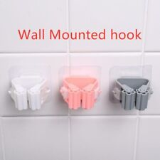 1Pc Bathroom Wall Mounted Mop Organizer Holder Brush Broom Hanger clip tool easy