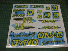Set of Dyno Compe BMX stickers Blue, yellow & Black