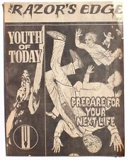 Vintage The Razor's Edge Paper Punk Rock Music Zine Magazine Issue #2