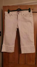 Women's Denim White Over The Knee Trouser - Size 12