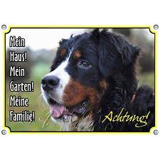 Hundeschild Berner Sennenhund - Metall Warnschild - rostfrei und uv-beständig