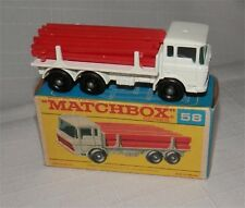 60s.LESNEY.Matchbox.58.D.A.F.Girder Truck..black Plastic wheels.MINT IN F BOX