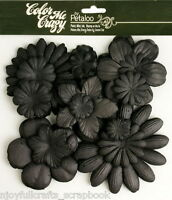 BLACK CMC Chalkbd 120 Paper Flowers 25-100mm 10 styles &size VALUE BAG Petaloo F