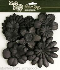 BLACK CMC Chalkbd 120 Paper Flowers 25-100mm 10 styles & size VALUE BAG Petaloo