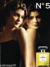 Publicité advertising 2010 Parfum Chanel N°5 avec Audrey Tautou