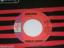 "7"" - Shirley Bassey / Something (Beatles Coverversion) & Easy to be hard # 3388"